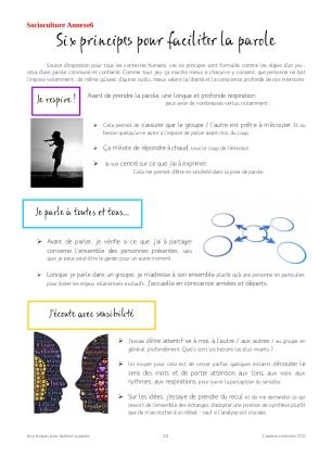 annexe6 6 principes pour faciliter la parole collective